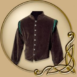 Costume -Brown Doublet with Blue Green Shoulder Trim